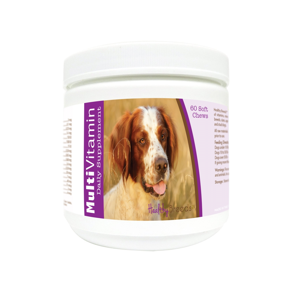 Healthy Breeds 840235175063 Irish Red & White Setter Multi-Vitamin Soft Chews - 60 Count
