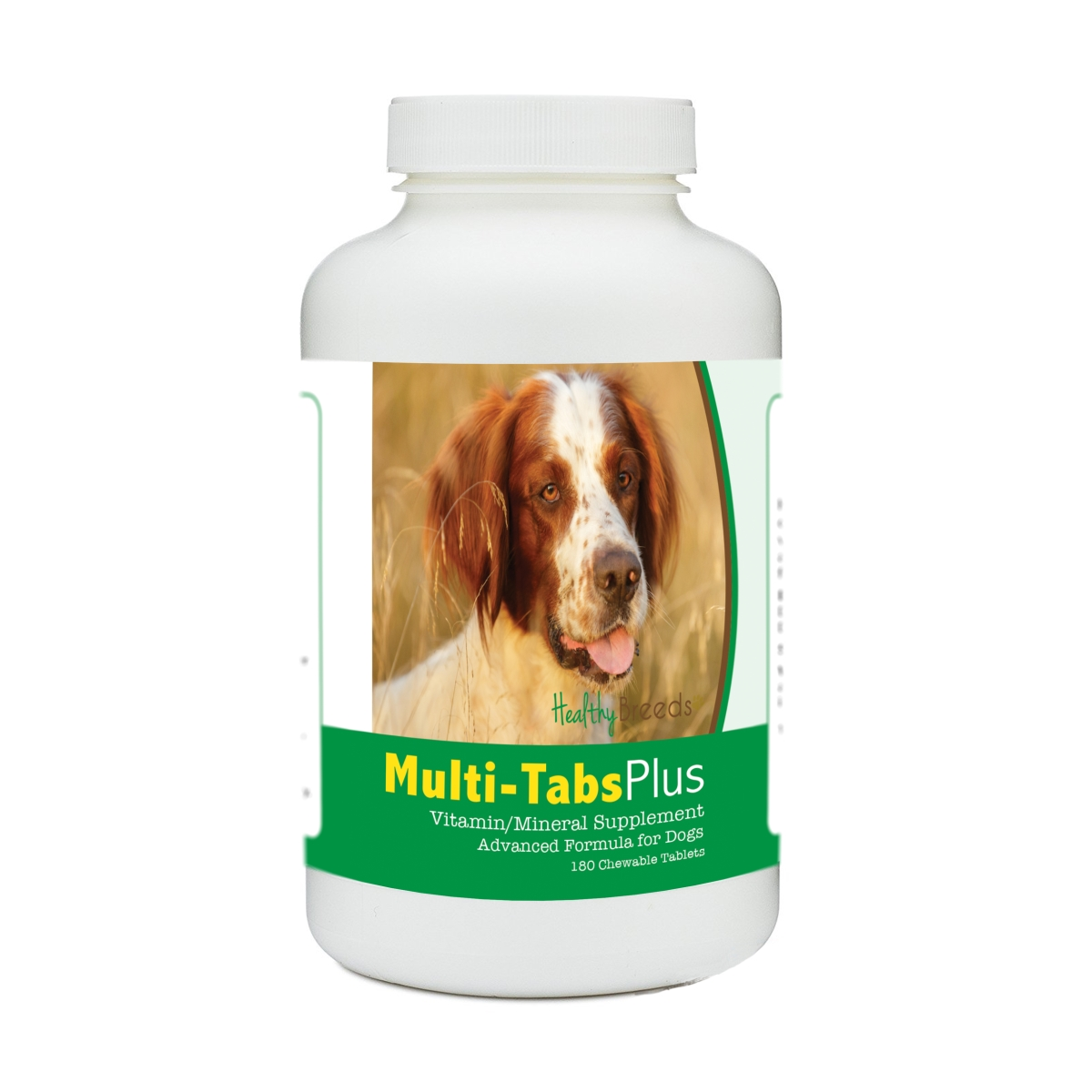 Healthy Breeds 840235175087 Irish Red & White Setter Multi-Tabs Plus Chewable Tablets - 180 Count