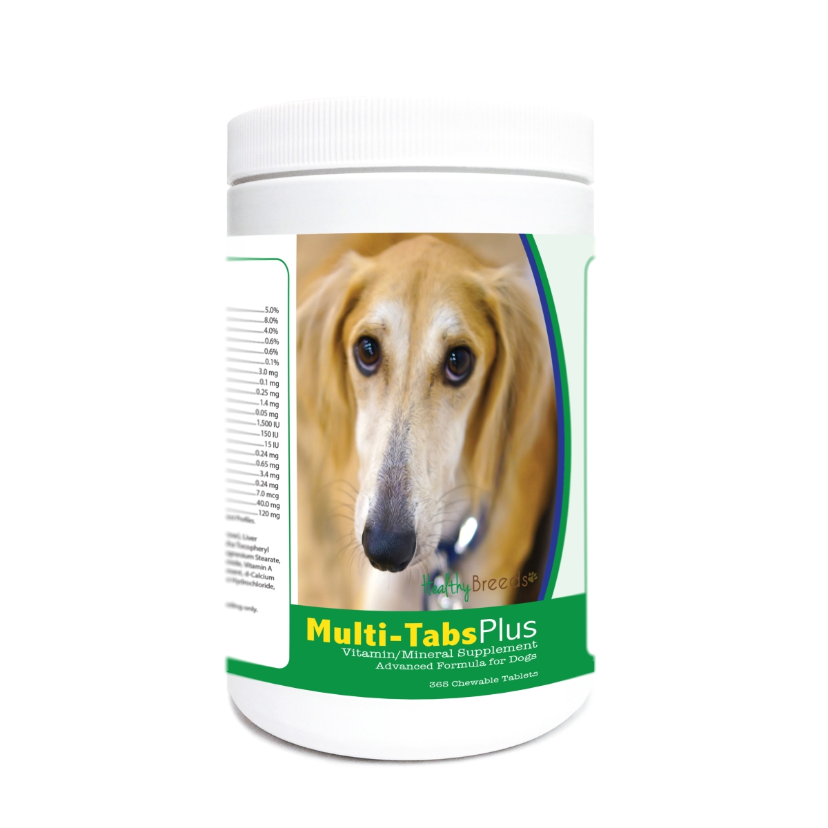 Healthy Breeds 840235175209 Sloughi Multi-Tabs Plus Chewable Tablets - 365 Count