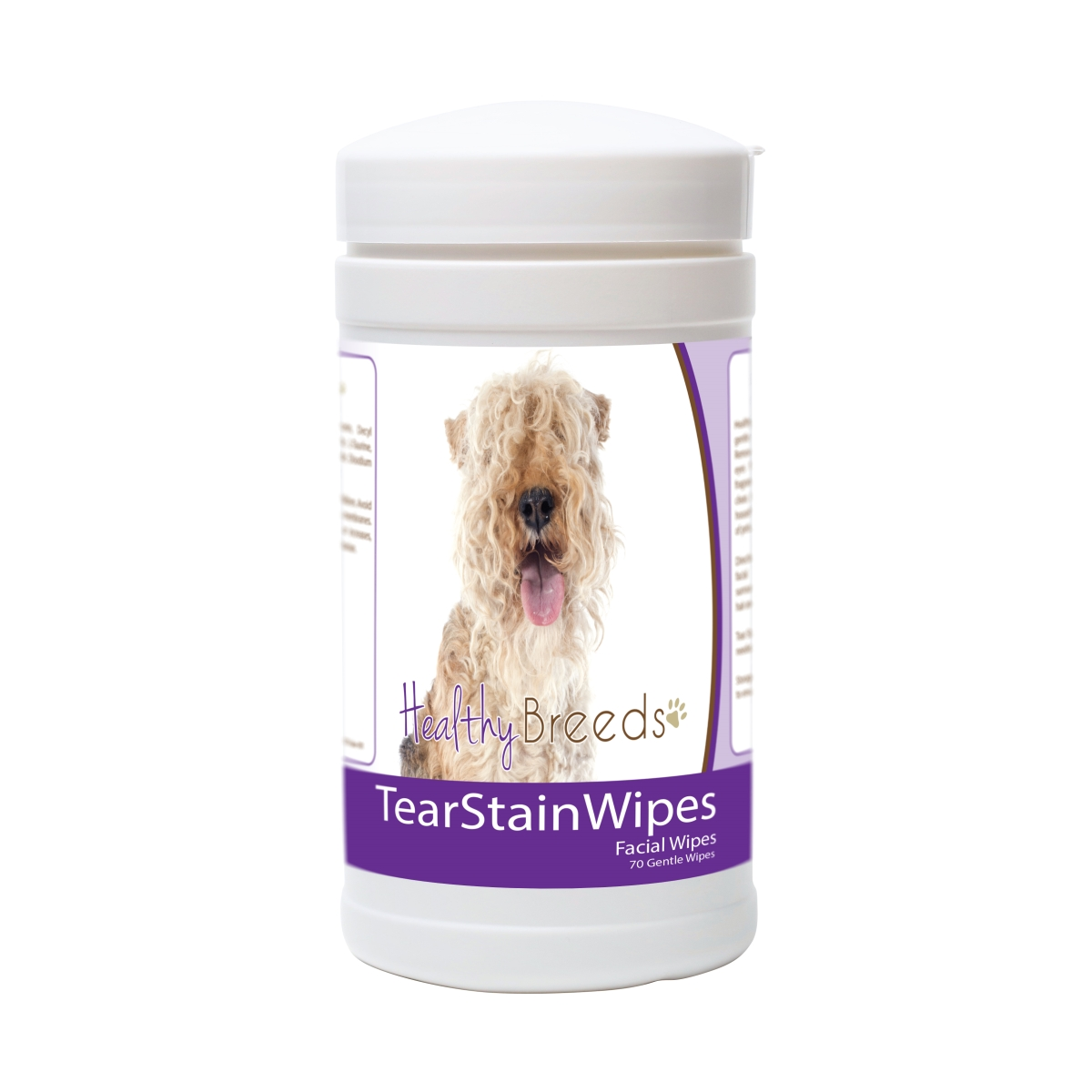 Healthy Breeds 840235175292 Lakeland Terrier Tear Stain Wipes - 70 Count