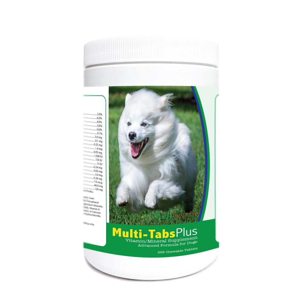 Healthy Breeds 840235175469 American Eskimo Dog Multi-Tabs Plus Chewable Tablets - 365 Count