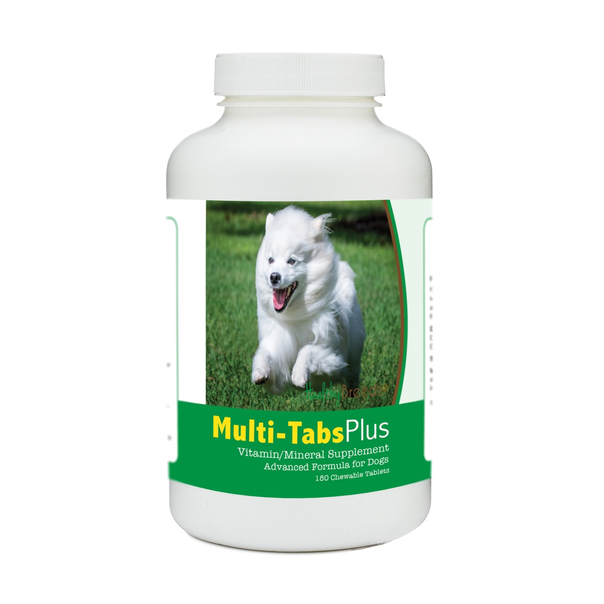 Healthy Breeds 840235175483 American Eskimo Dog Multi-Tabs Plus Chewable Tablets - 180 Count