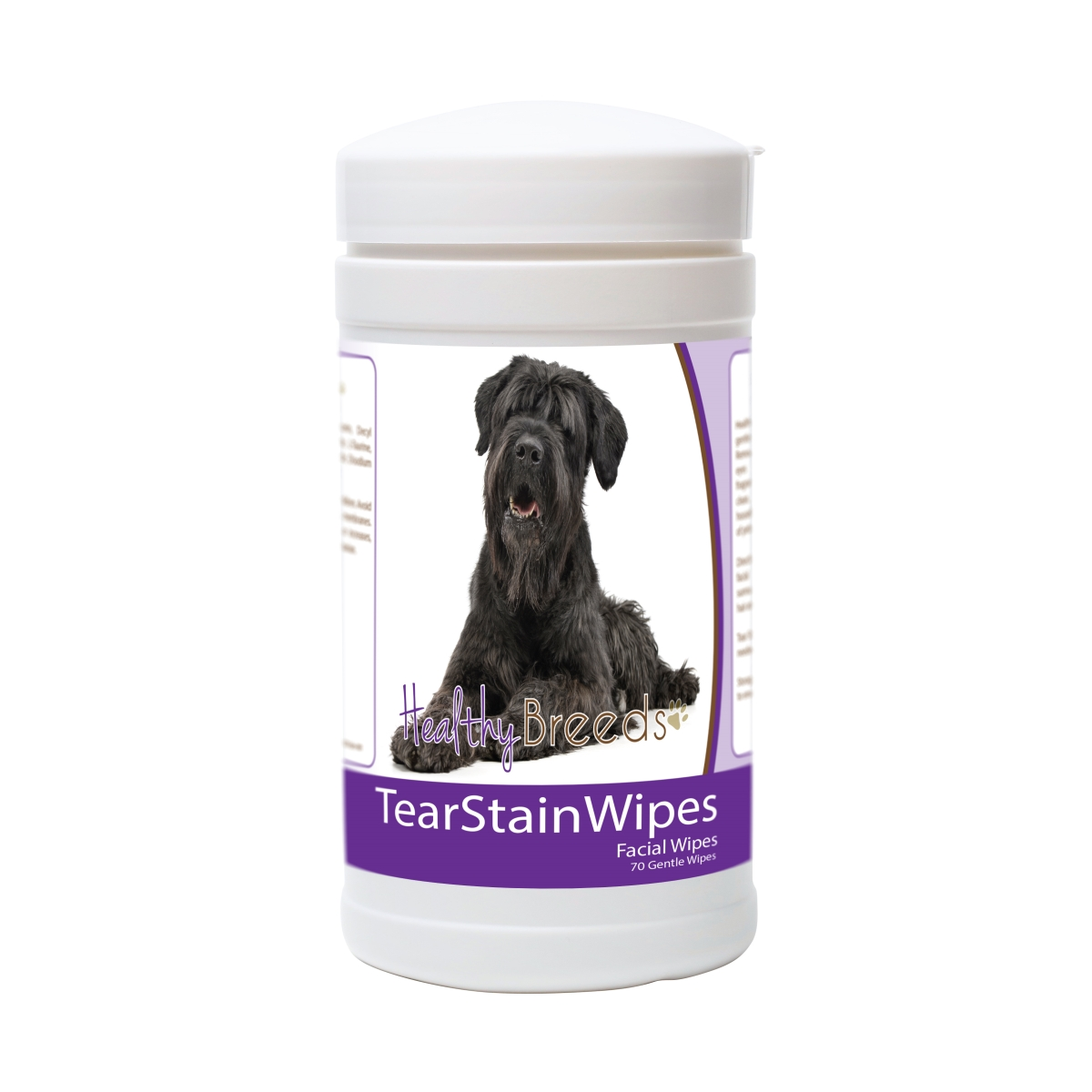 Healthy Breeds 840235175728 Black Russian Terrier Tear Stain Wipes - 70 Count