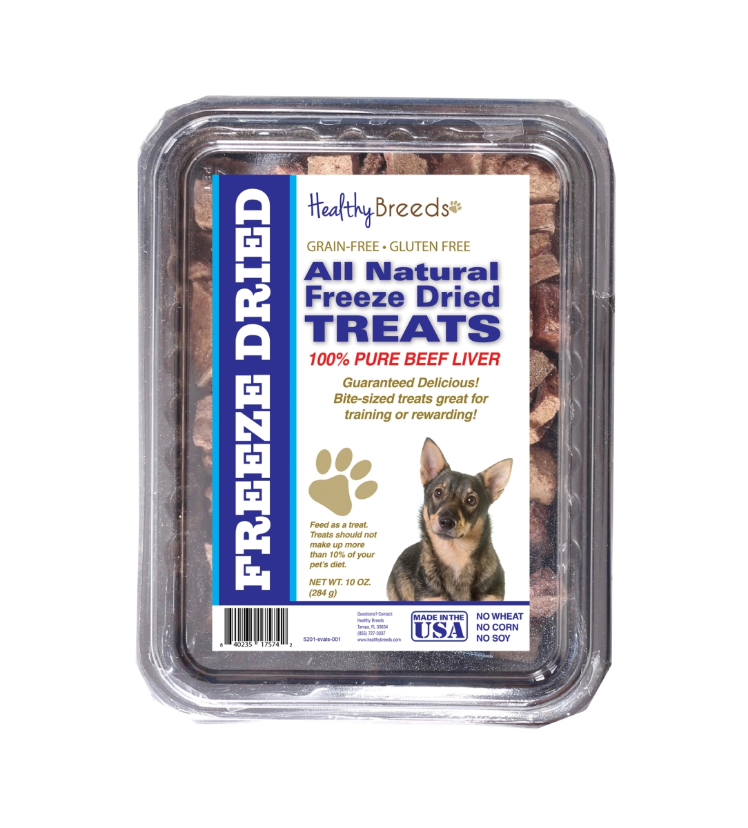 Healthy Breeds 840235175742 10 oz Swedish Vallhund All Natural Freeze Dried Treats Beef Liver