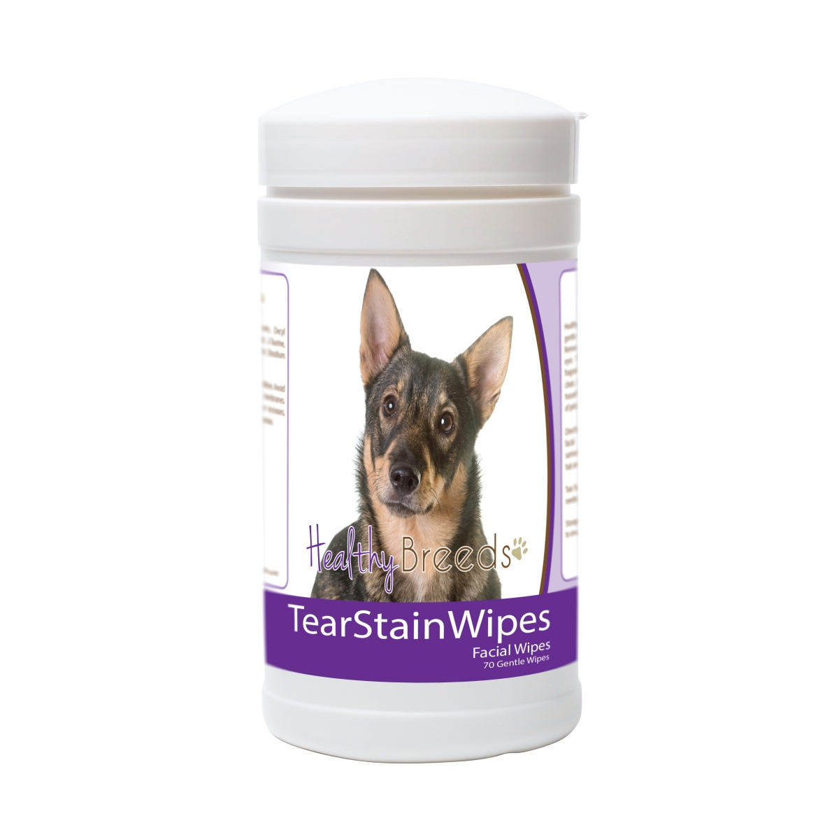 Healthy Breeds 840235175773 Swedish Vallhund Tear Stain Wipes - 70 Count