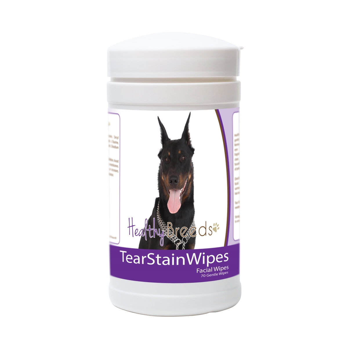 Healthy Breeds 840235175933 Beauceron Tear Stain Wipes - 70 Count