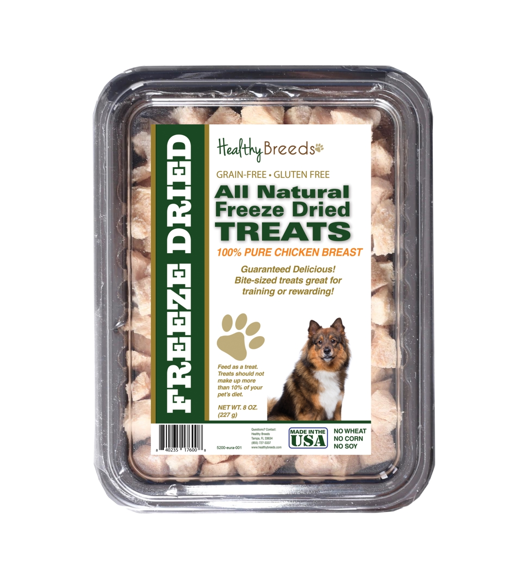 Healthy Breeds 840235176008 8 oz Eurasier All Natural Freeze Dried Treats Chicken Breast