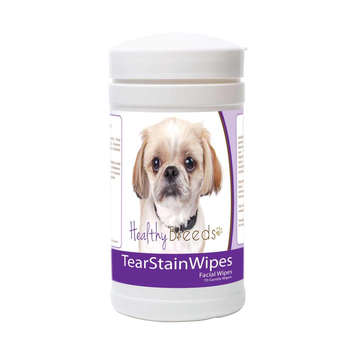 Healthy Breeds 840235176176 Peekapoo Tear Stain Wipes - 70 Count