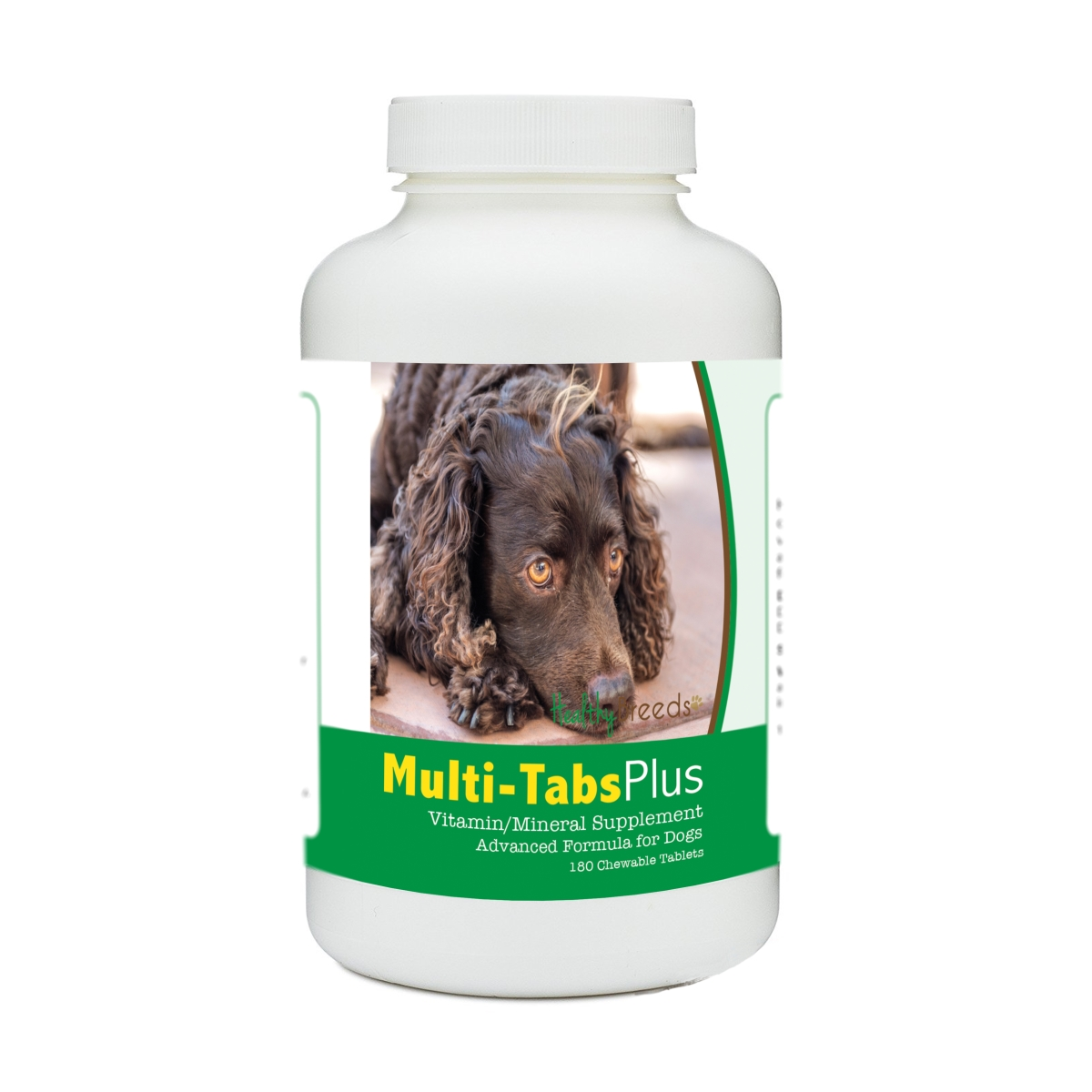 Healthy Breeds 840235176244 American Water Spaniel Multi-Tabs Plus Chewable Tablets - 180 Count