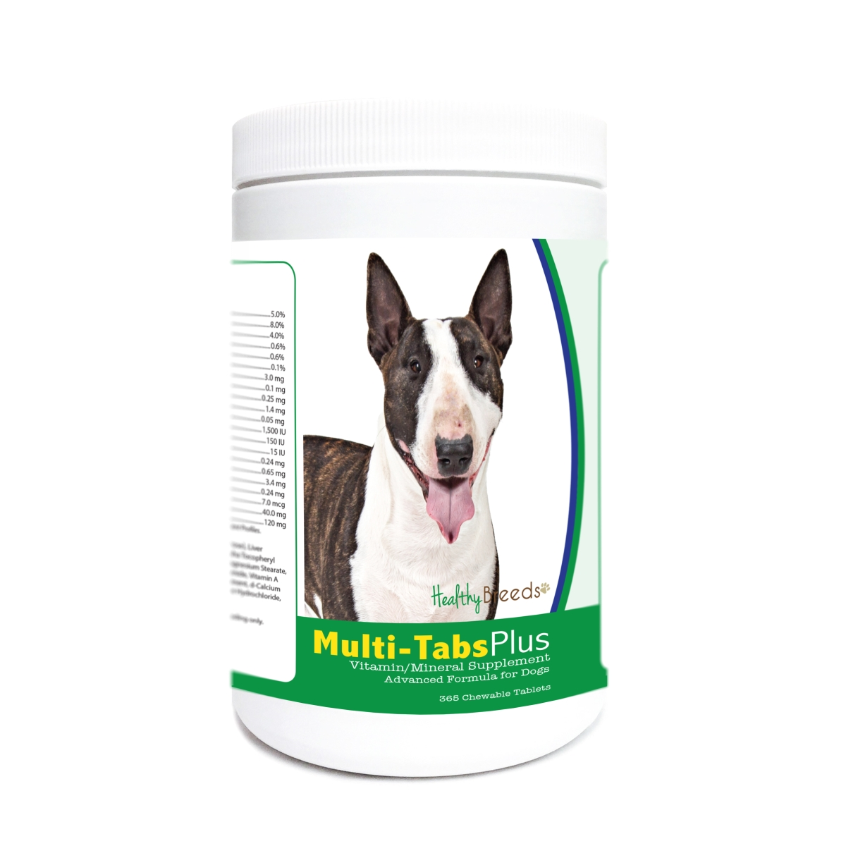 Healthy Breeds 840235176473 Miniature Bull Terrier Multi-Tabs Plus Chewable Tablets - 365 Count