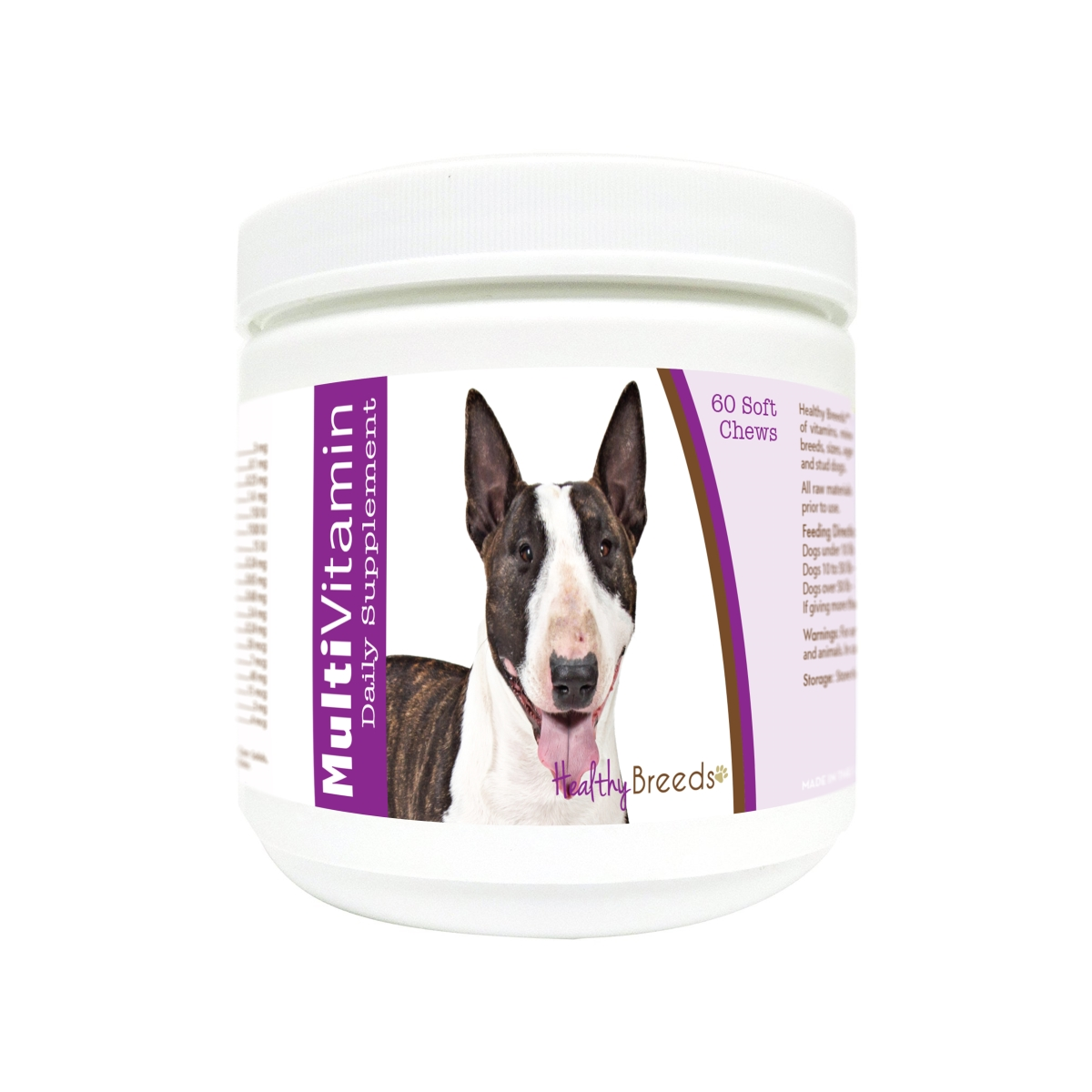 Healthy Breeds 840235176480 Miniature Bull Terrier Multi-Vitamin Soft Chews - 60 Count