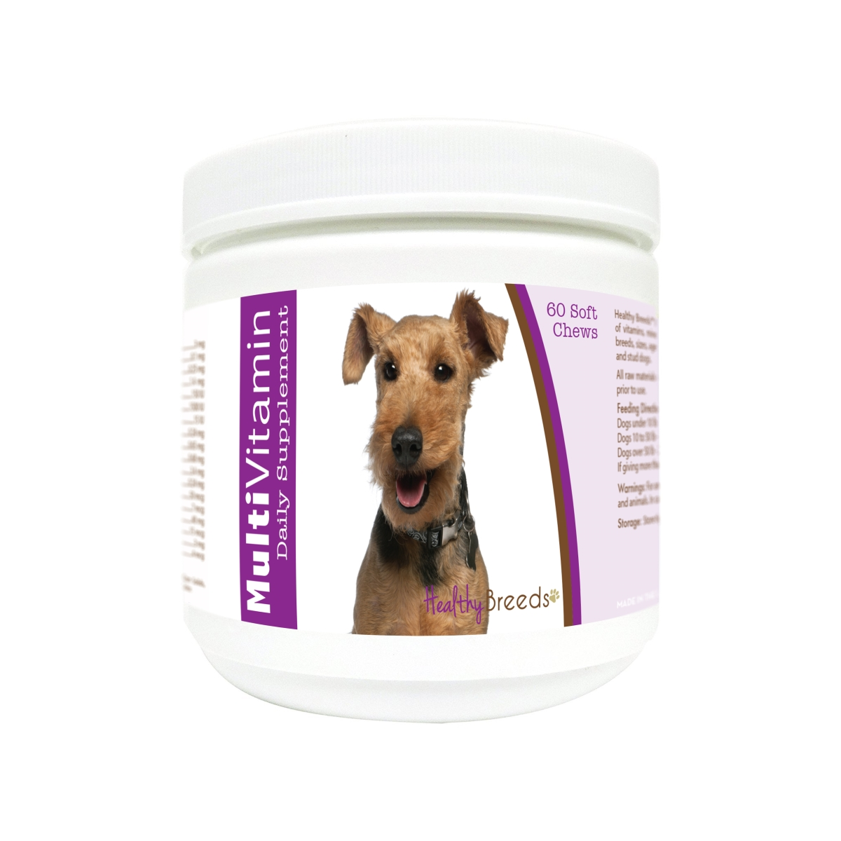 Healthy Breeds 840235176619 Welsh Terrier Multi-Vitamin Soft Chews - 60 Count