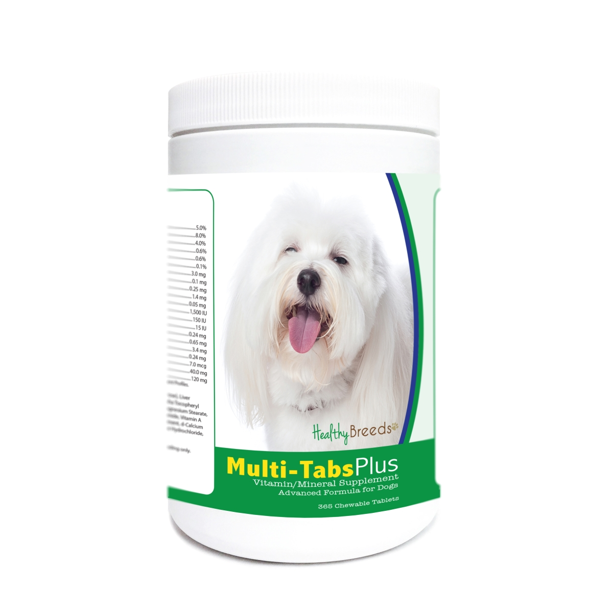 Healthy Breeds 840235176664 Coton de Tulear Multi-Tabs Plus Chewable Tablets - 365 Count