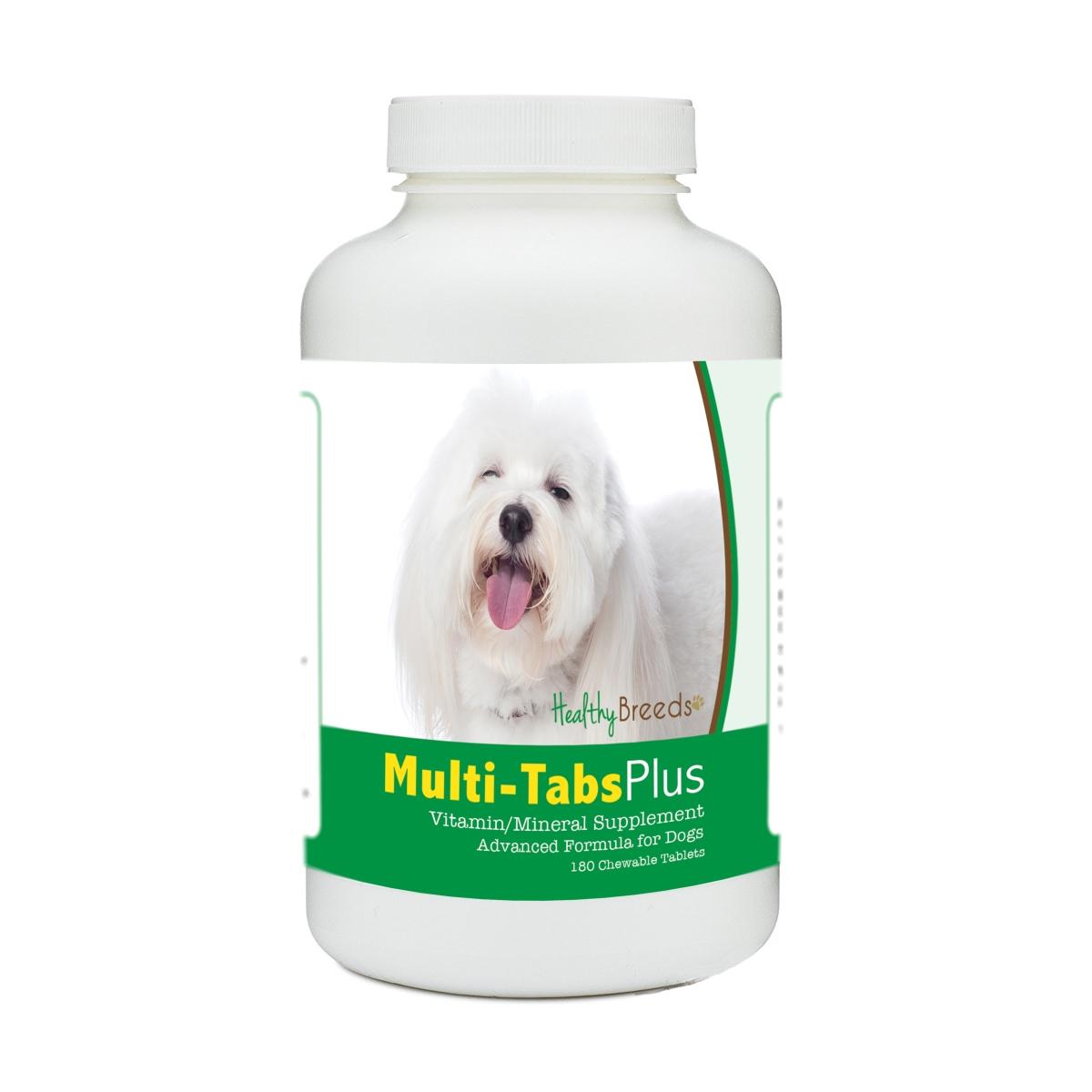 Healthy Breeds 840235176695 Coton de Tulear Multi-Tabs Plus Chewable Tablets - 180 Count
