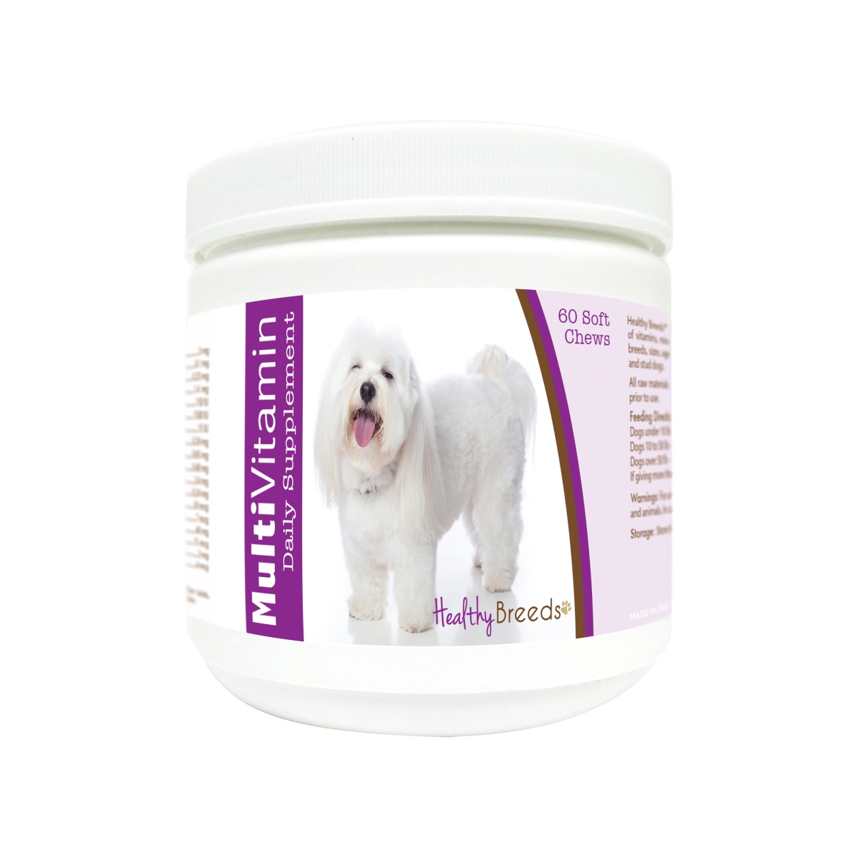 Healthy Breeds 840235176732 Coton de Tulear Multi-Vitamin Soft Chews - 60 Count