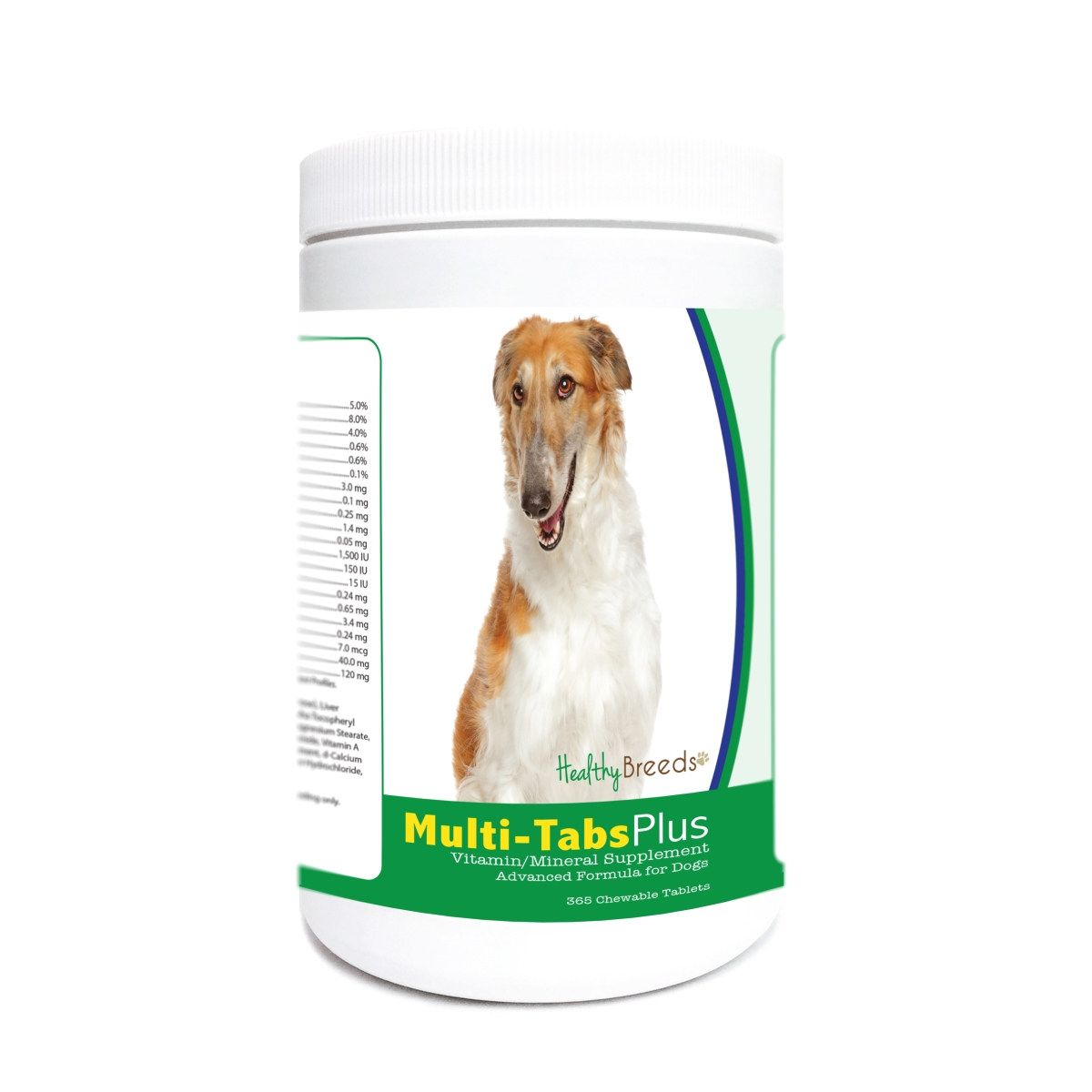 Healthy Breeds 840235176909 Borzois Multi-Tabs Plus Chewable Tablets - 365 Count