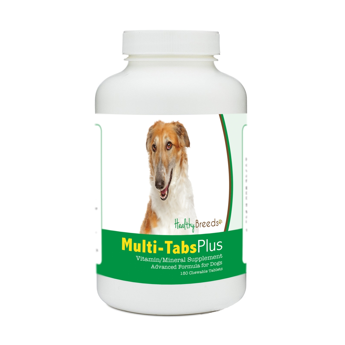 Healthy Breeds 840235176916 Borzois Multi-Tabs Plus Chewable Tablets - 180 Count