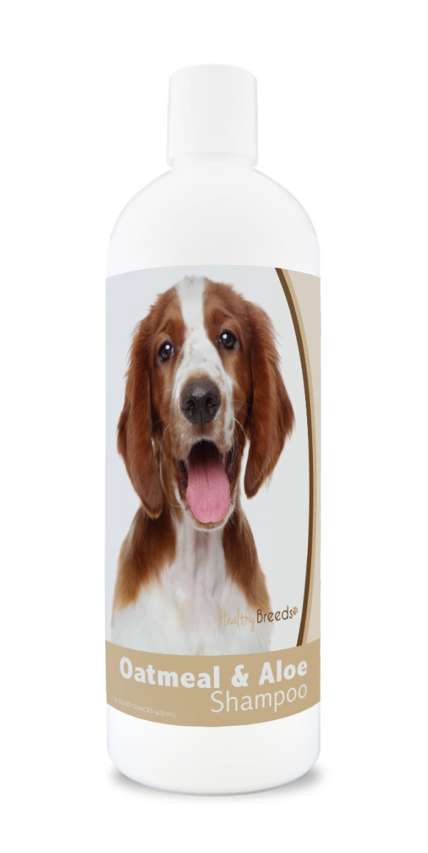 Healthy Breeds 840235177463 16 oz Welsh Springer Spaniel Oatmeal Shampoo with Aloe