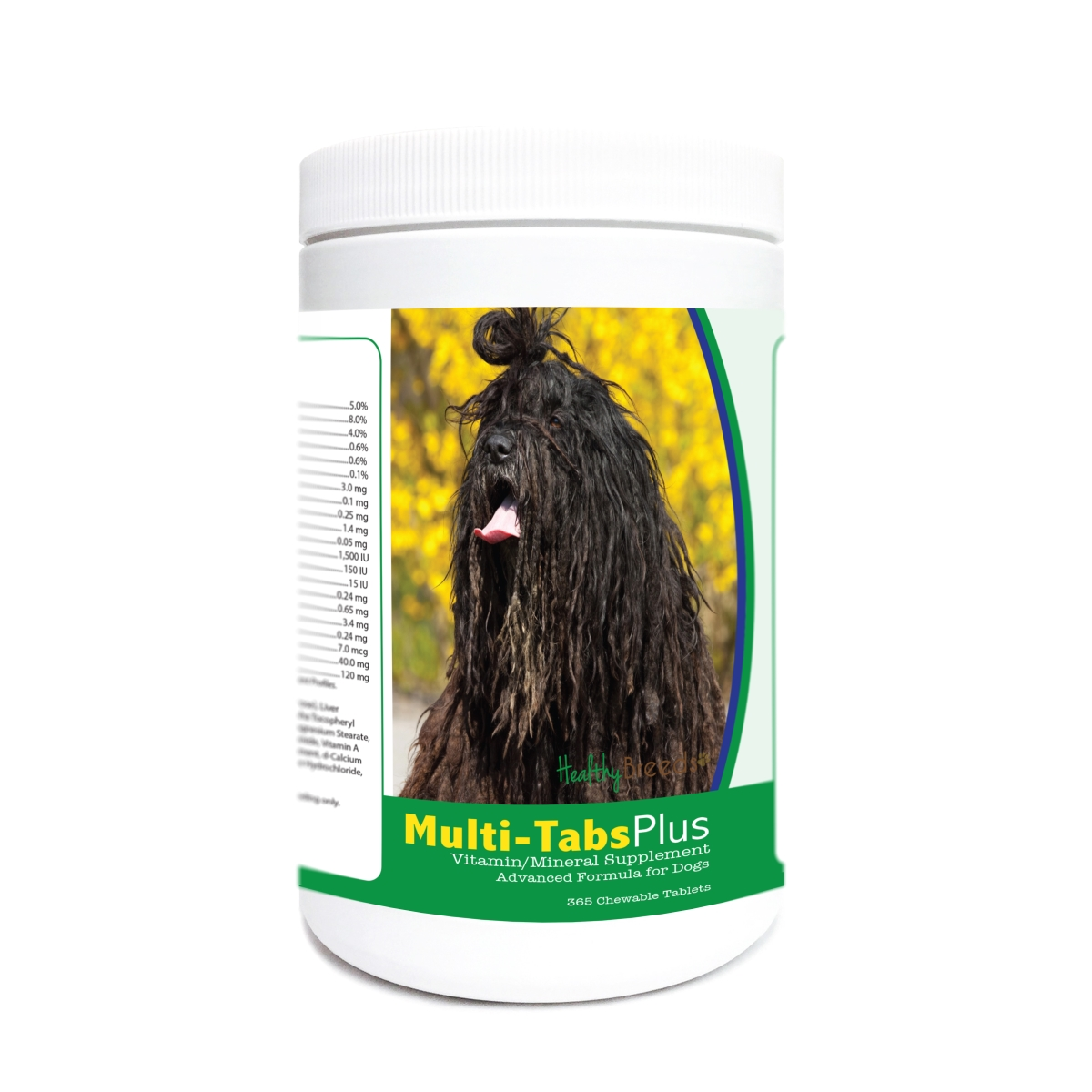 Healthy Breeds 840235177609 Bergamasco Multi-Tabs Plus Chewable Tablets - 365 Count