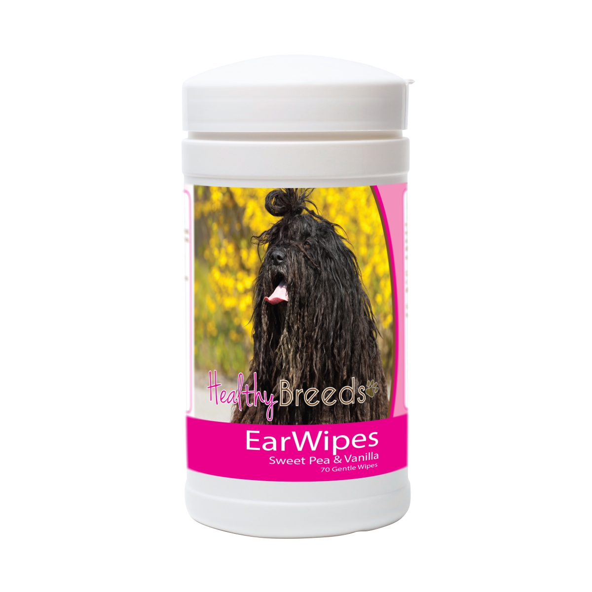 Healthy Breeds 840235177623 Bergamasco Ear Wipes - 70 Count