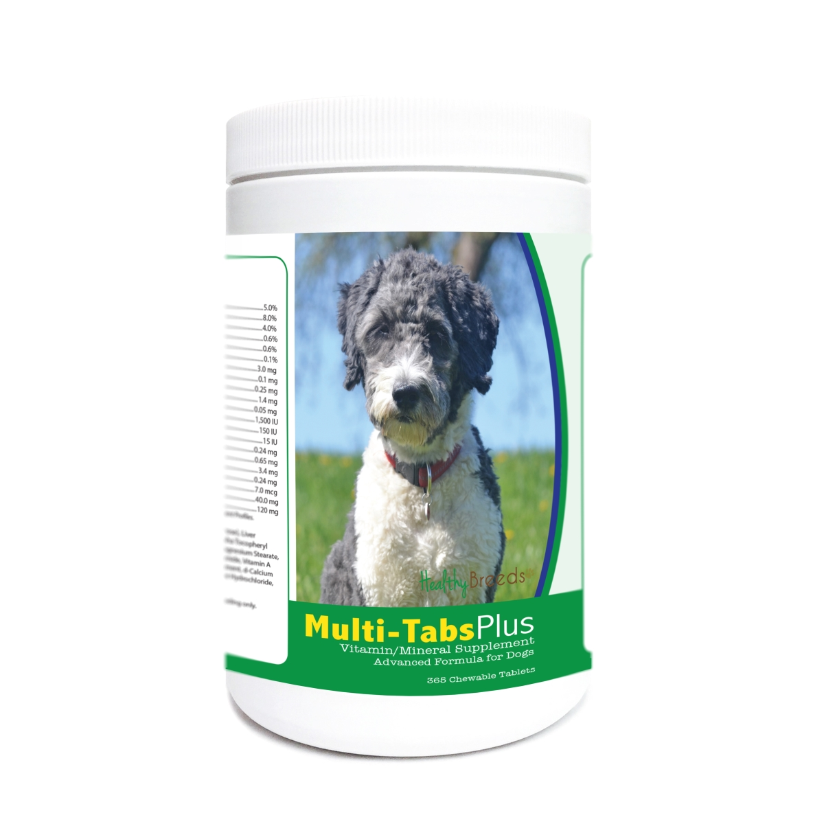 Healthy Breeds 840235177852 Aussiedoodle Multi-Tabs Plus Chewable Tablets - 365 Count