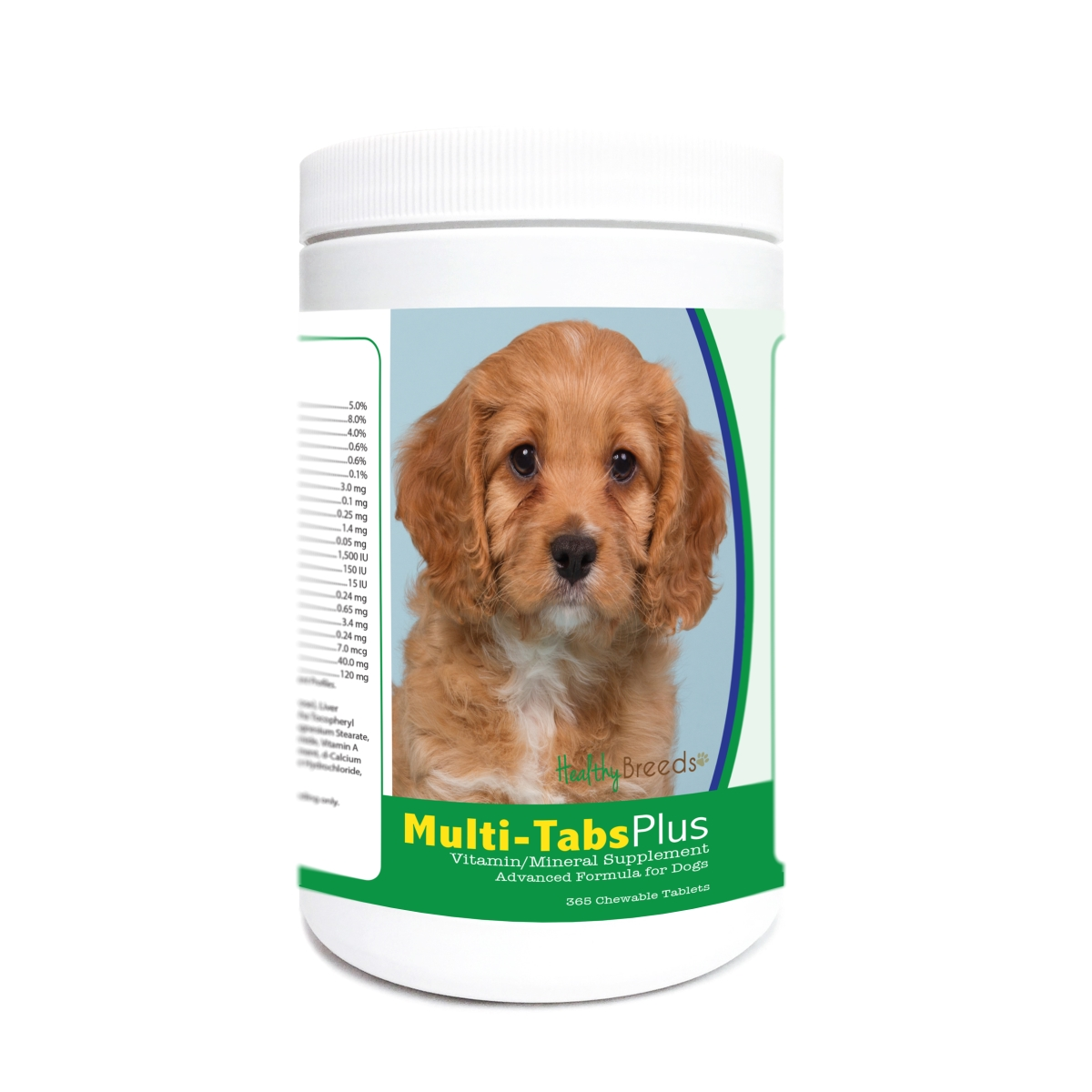 Healthy Breeds 840235177869 Cavapoo Multi-Tabs Plus Chewable Tablets - 365 Count