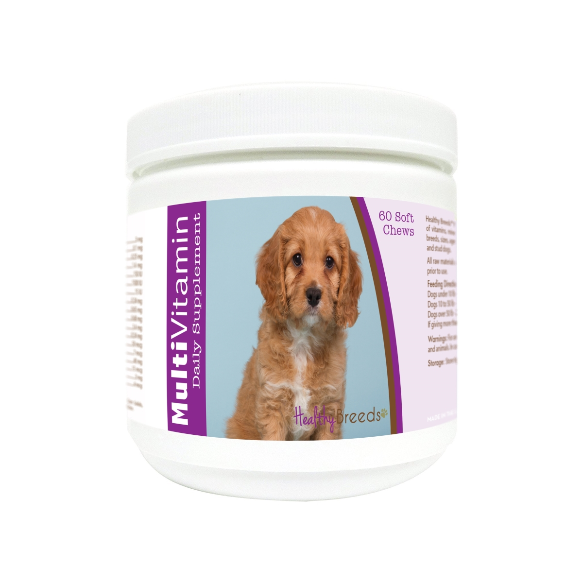 Healthy Breeds 840235177883 Cavapoo Multi-Vitamin Soft Chews - 60 Count