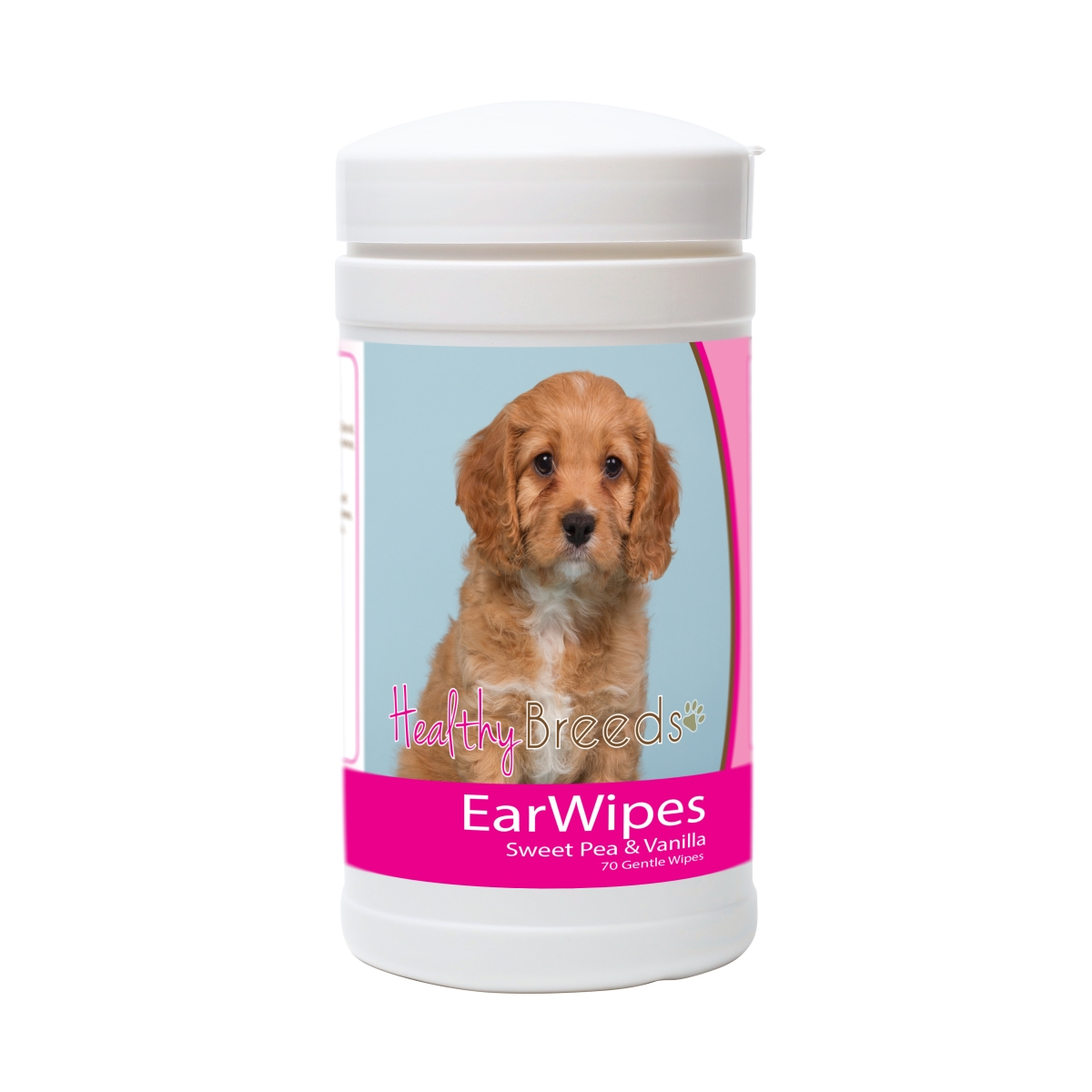 Healthy Breeds 840235177937 Cavapoo Ear Wipes - 70 Count