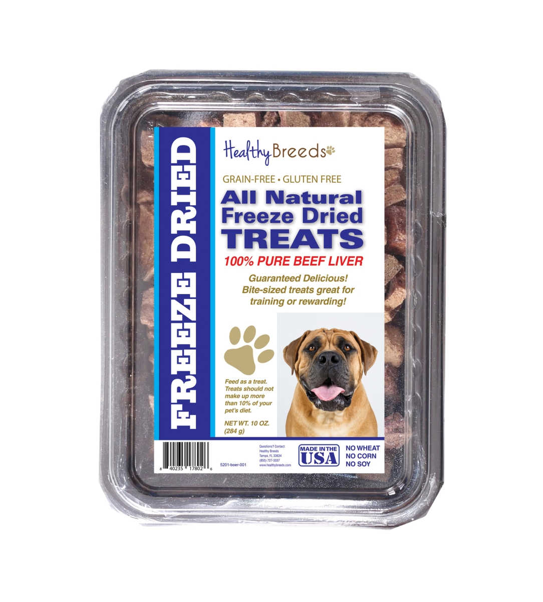 Healthy Breeds 840235178026 10 oz Boerboel All Natural Freeze Dried Treats Beef Liver