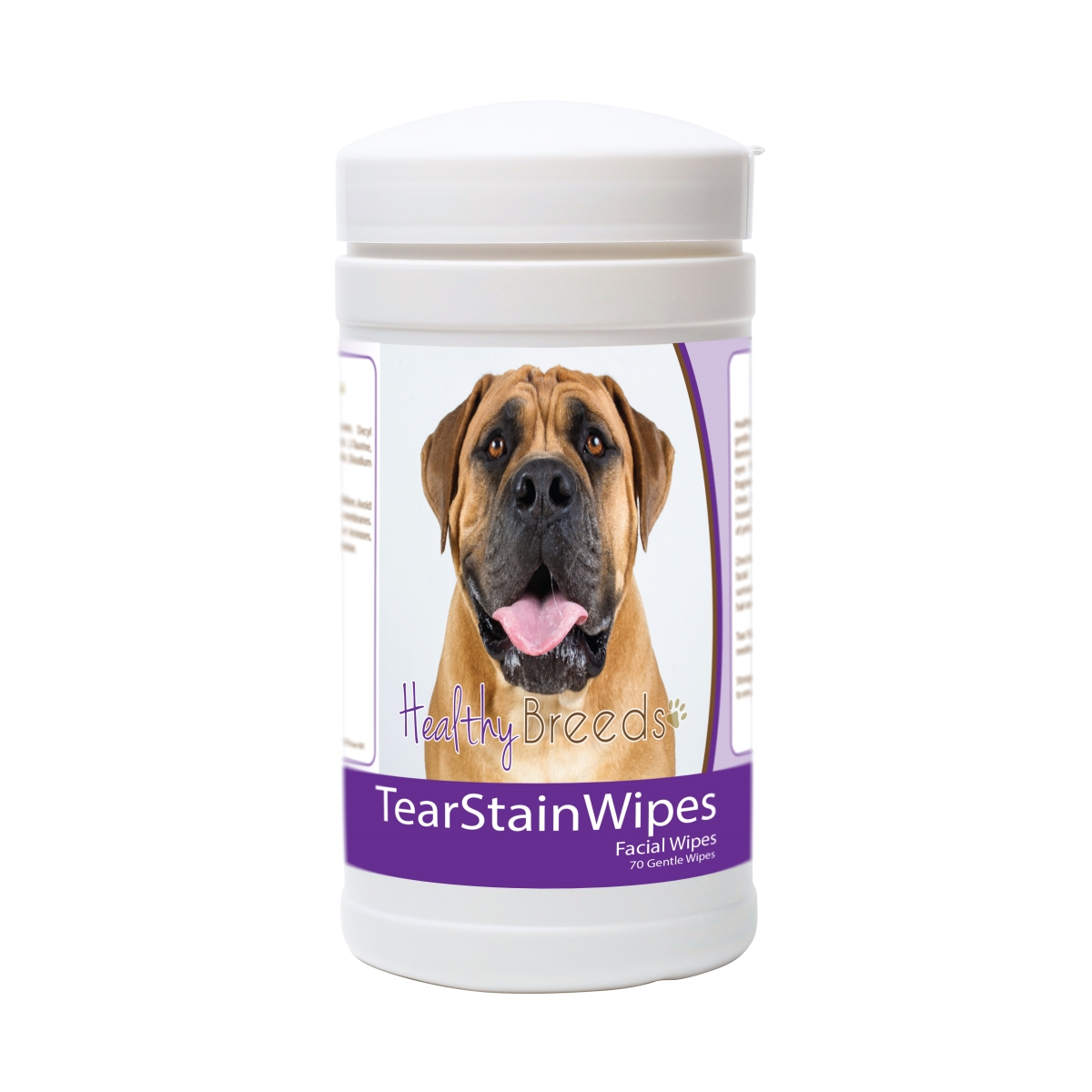Healthy Breeds 840235178057 Boerboel Tear Stain Wipes - 70 Count