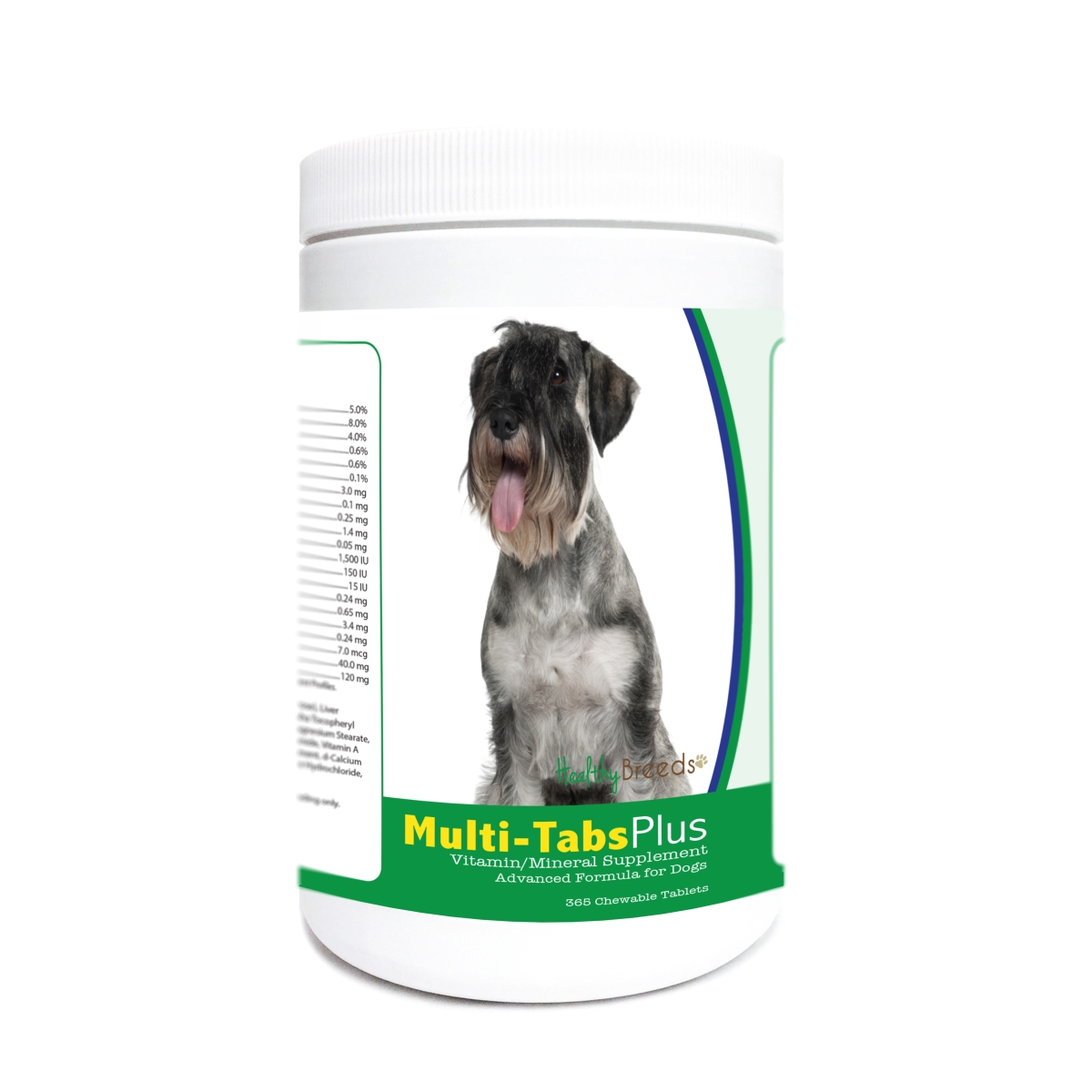 Healthy Breeds 840235178118 Standard Schnauzer Multi-Tabs Plus Chewable Tablets - 365 Count