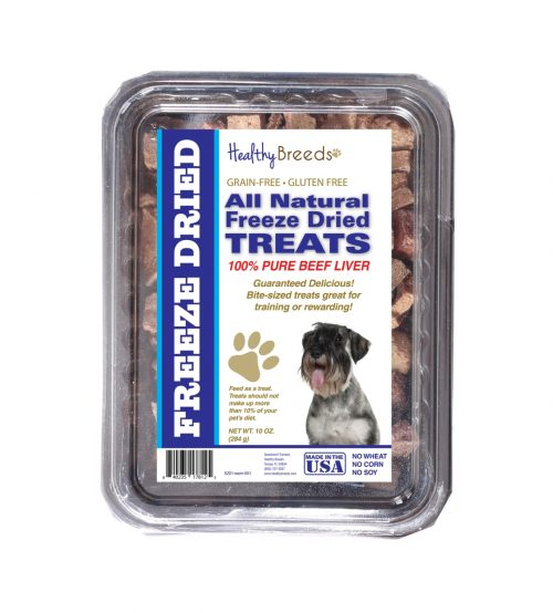 Healthy Breeds 840235178125 10 oz Standard Schnauzer All Natural Freeze Dried Treats Beef Liver