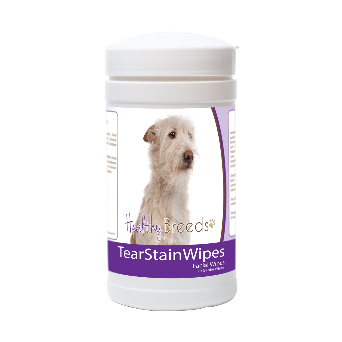 Healthy Breeds 840235178217 Portuguese Podengo Pequeno Tear Stain Wipes - 70 Count