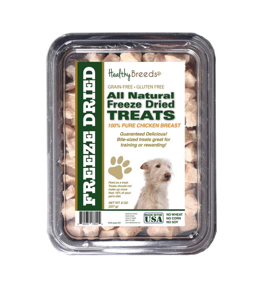Healthy Breeds 840235178224 8 oz Portuguese Podengo Pequeno All Natural Freeze Dried Treats Chicken Breast