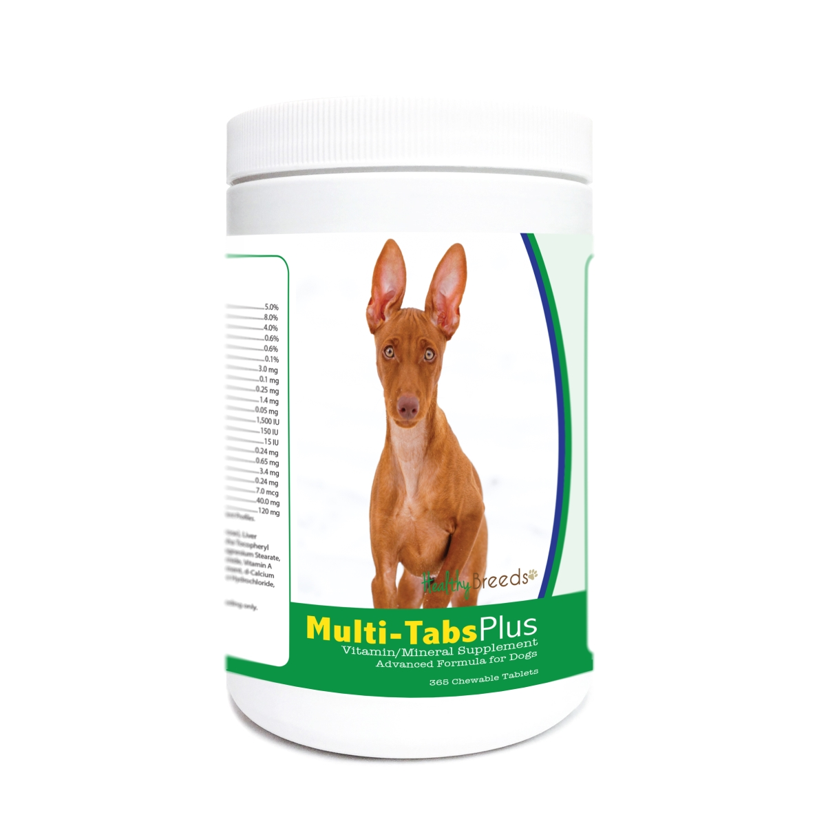 Healthy Breeds 840235178330 Cirneco Dell Etna Multi-Tabs Plus Chewable Tablets - 365 Count