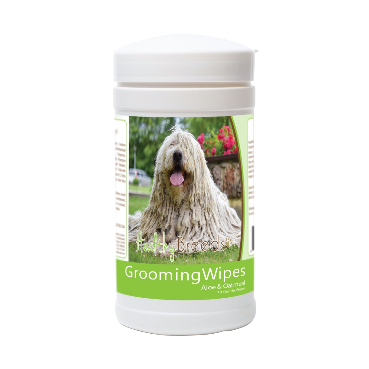 Healthy Breeds 840235178453 Komondorok Grooming Wipes - 70 Count