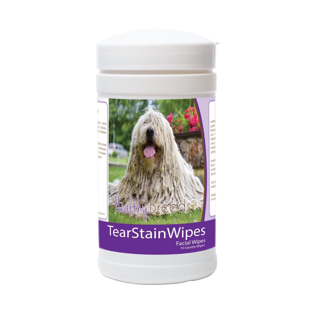 Healthy Breeds 840235178491 Komondorok Tear Stain Wipes - 70 Count