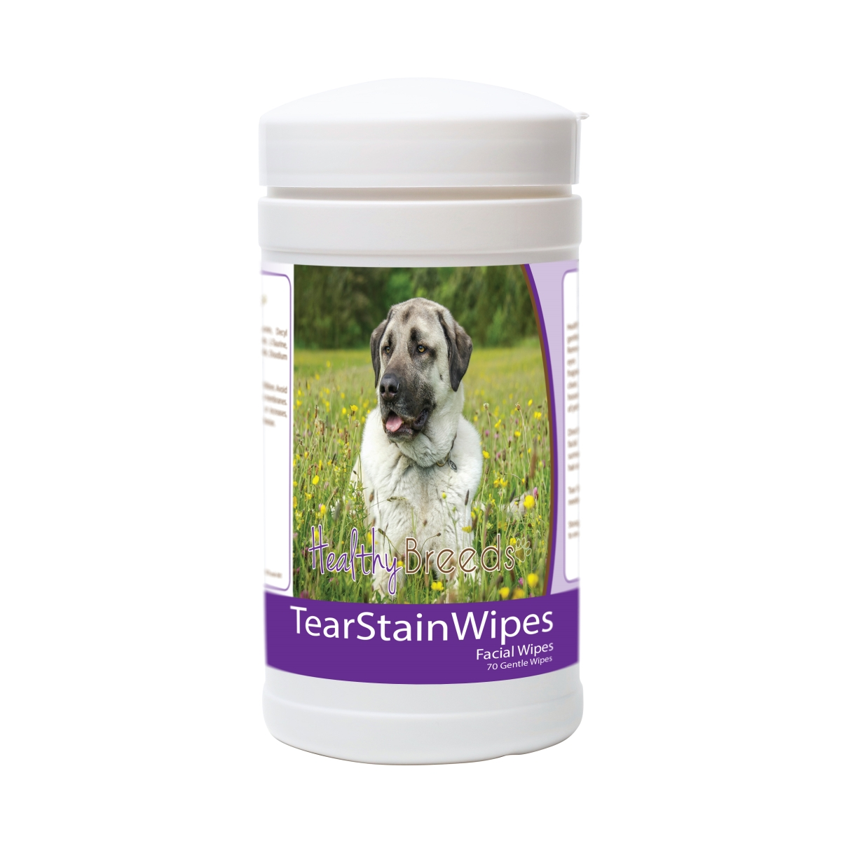 Healthy Breeds 840235178538 Anatolian Shepherd Dog Tear Stain Wipes - 70 Count