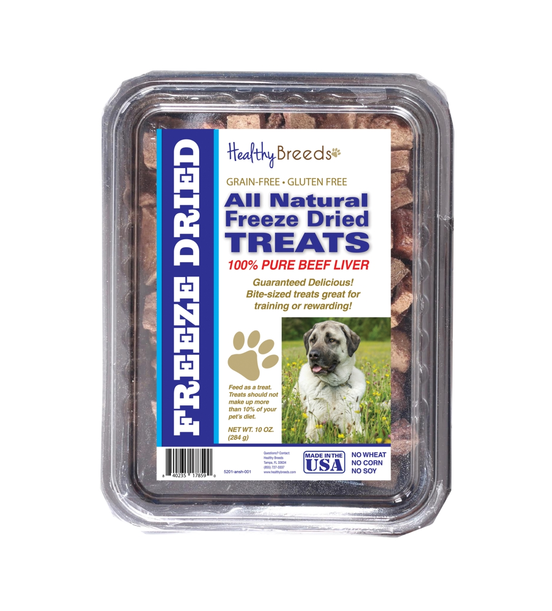 Healthy Breeds 840235178590 10 oz Anatolian Shepherd Dog All Natural Freeze Dried Treats Beef Liver