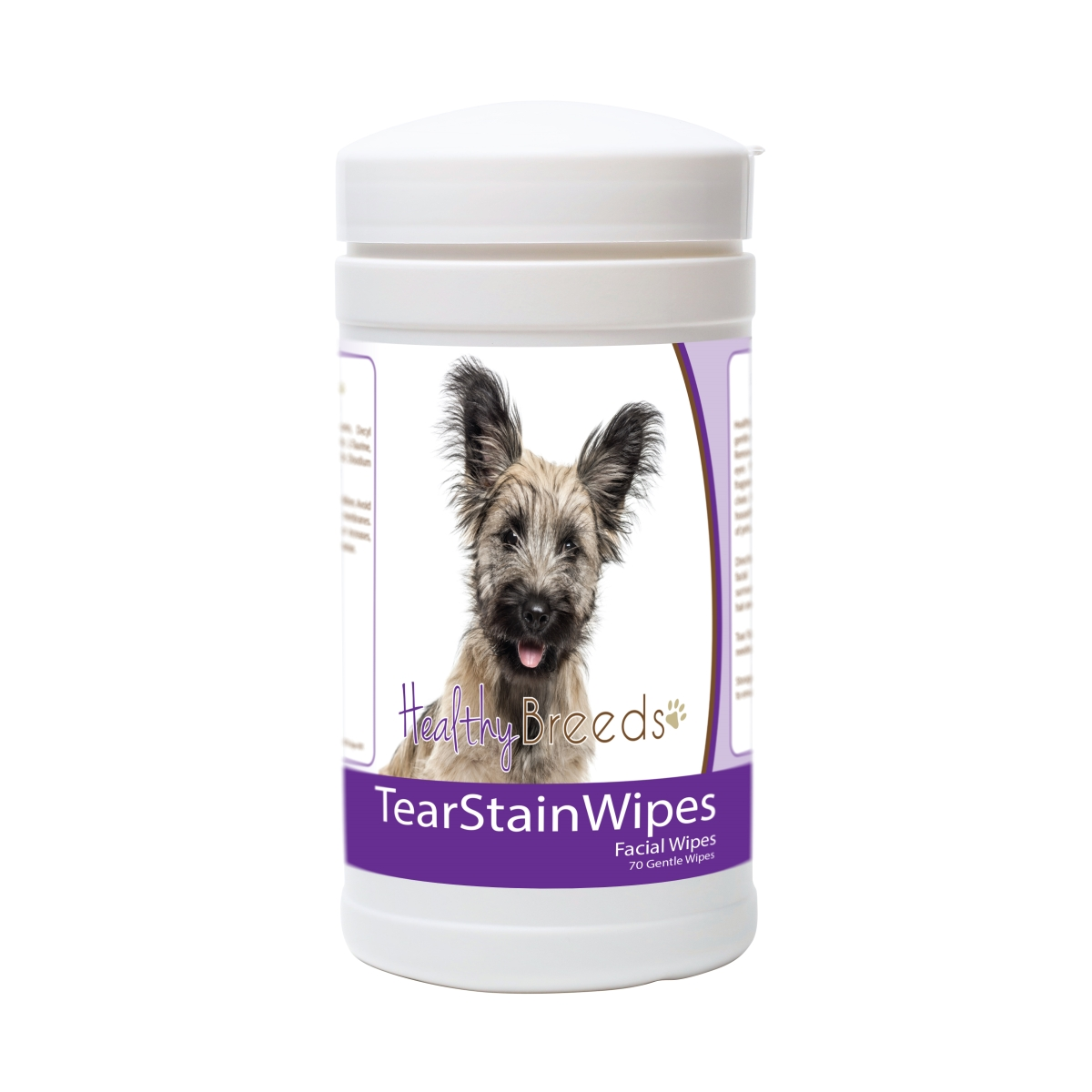 Healthy Breeds 840235178705 Skye Terrier Tear Stain Wipes - 70 Count