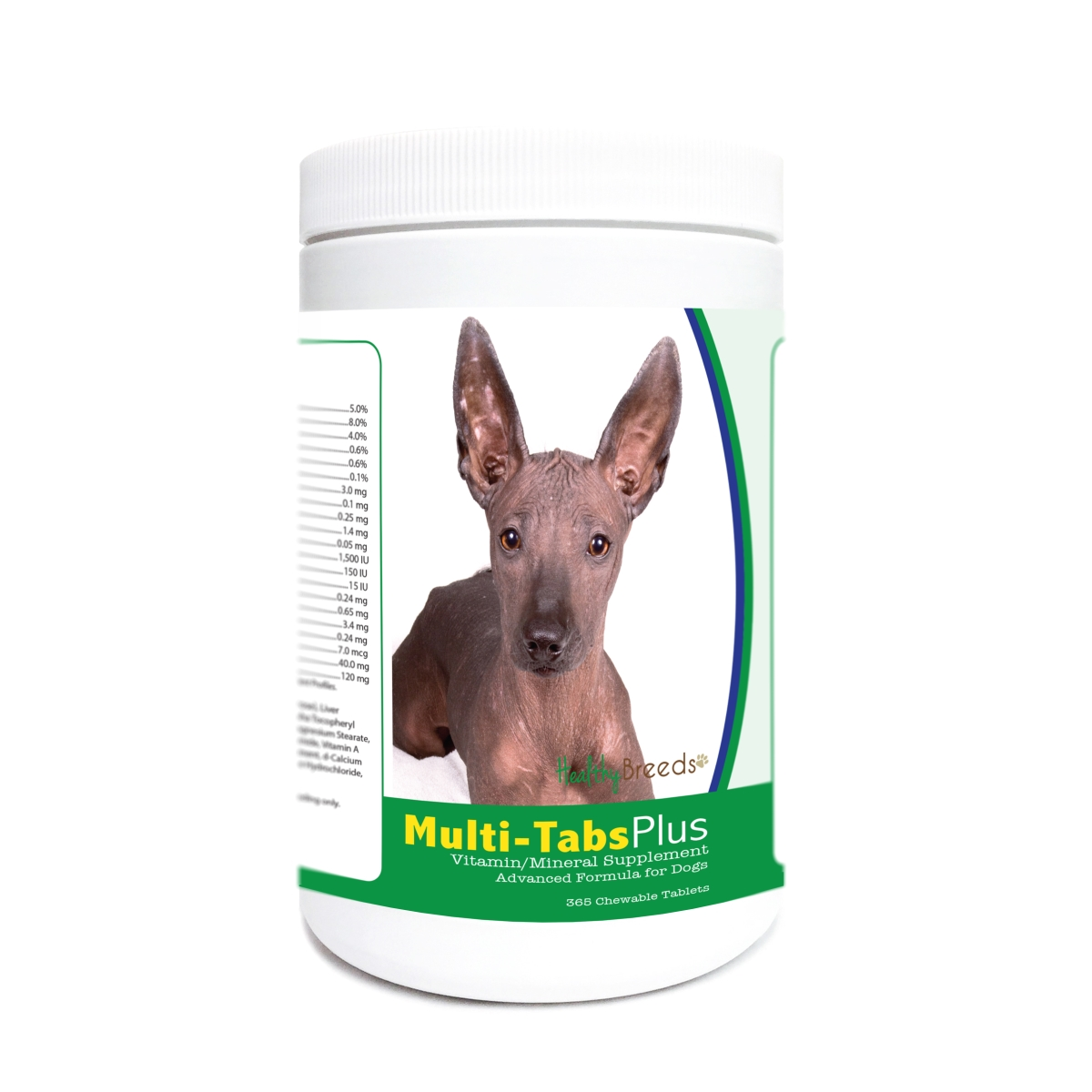 Healthy Breeds 840235178774 Xoloitzcuintli Multi-Tabs Plus Chewable Tablets - 365 Count