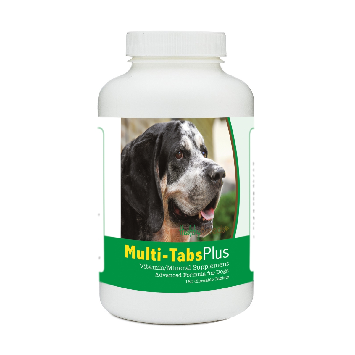 Healthy Breeds 840235178910 Bluetick Coonhound Multi-Tabs Plus Chewable Tablets - 180 Count