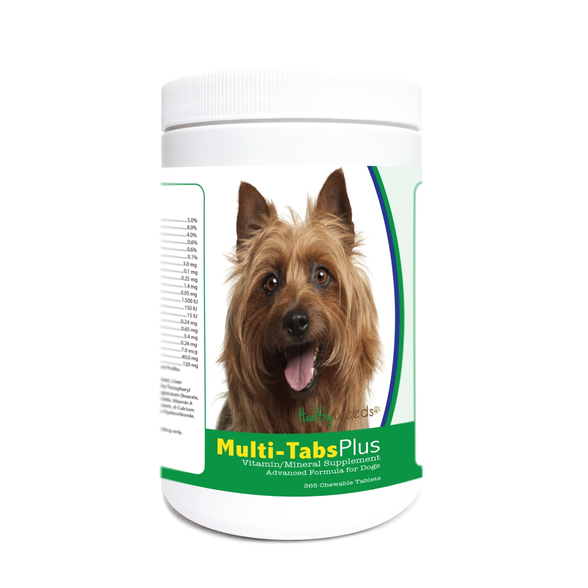 Healthy Breeds 840235178972 Australian Terrier Multi-Tabs Plus Chewable Tablets - 365 Count