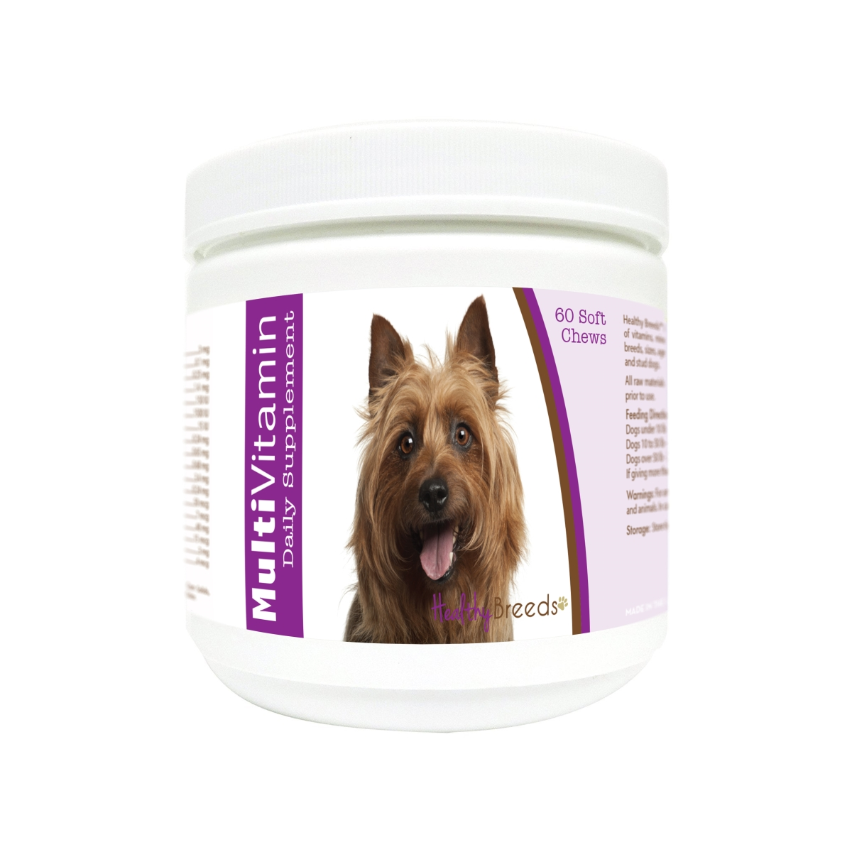 Healthy Breeds 840235179009 Australian Terrier Multi-Vitamin Soft Chews - 60 Count