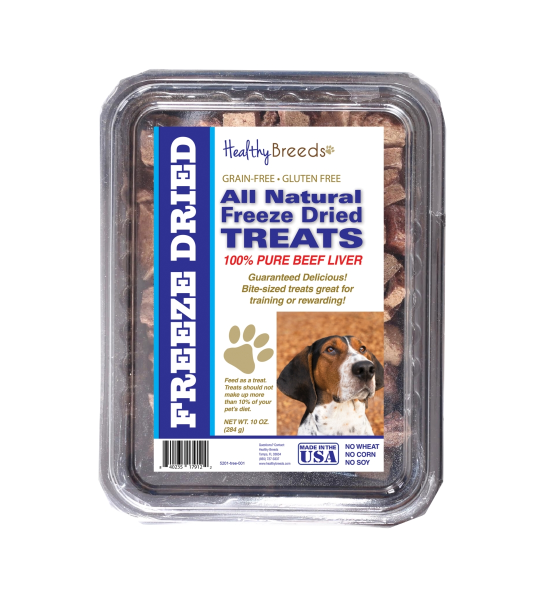 Healthy Breeds 840235179122 10 oz Treeing Walker Coonhound All Natural Freeze Dried Treats Beef Liver