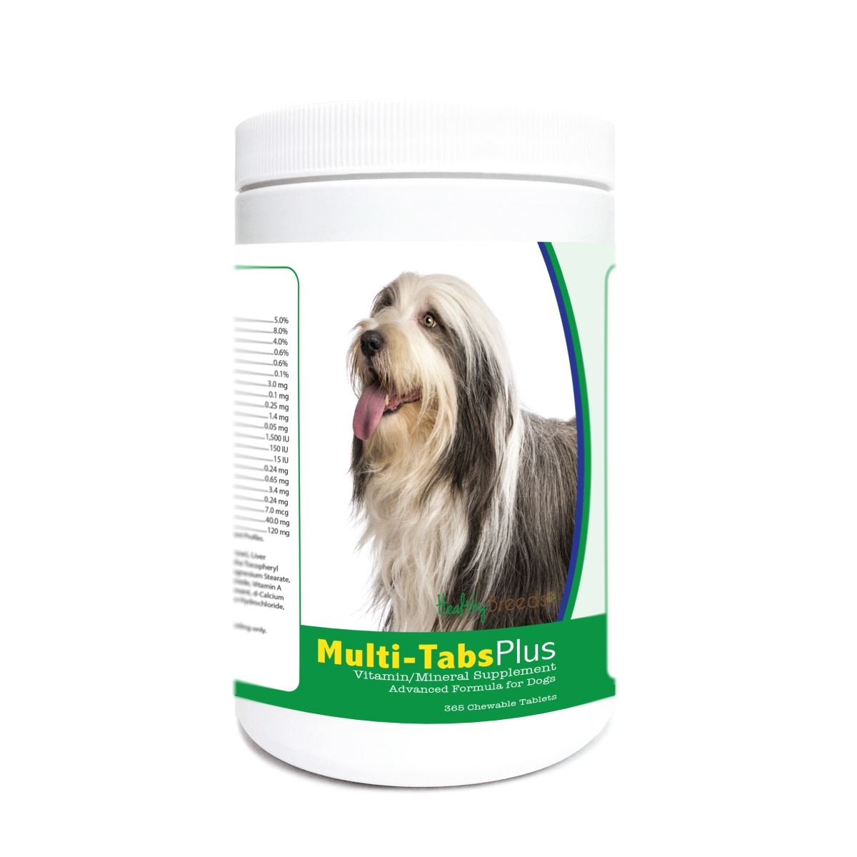 Healthy Breeds 840235179214 Bearded Collie Multi-Tabs Plus Chewable Tablets - 365 Count