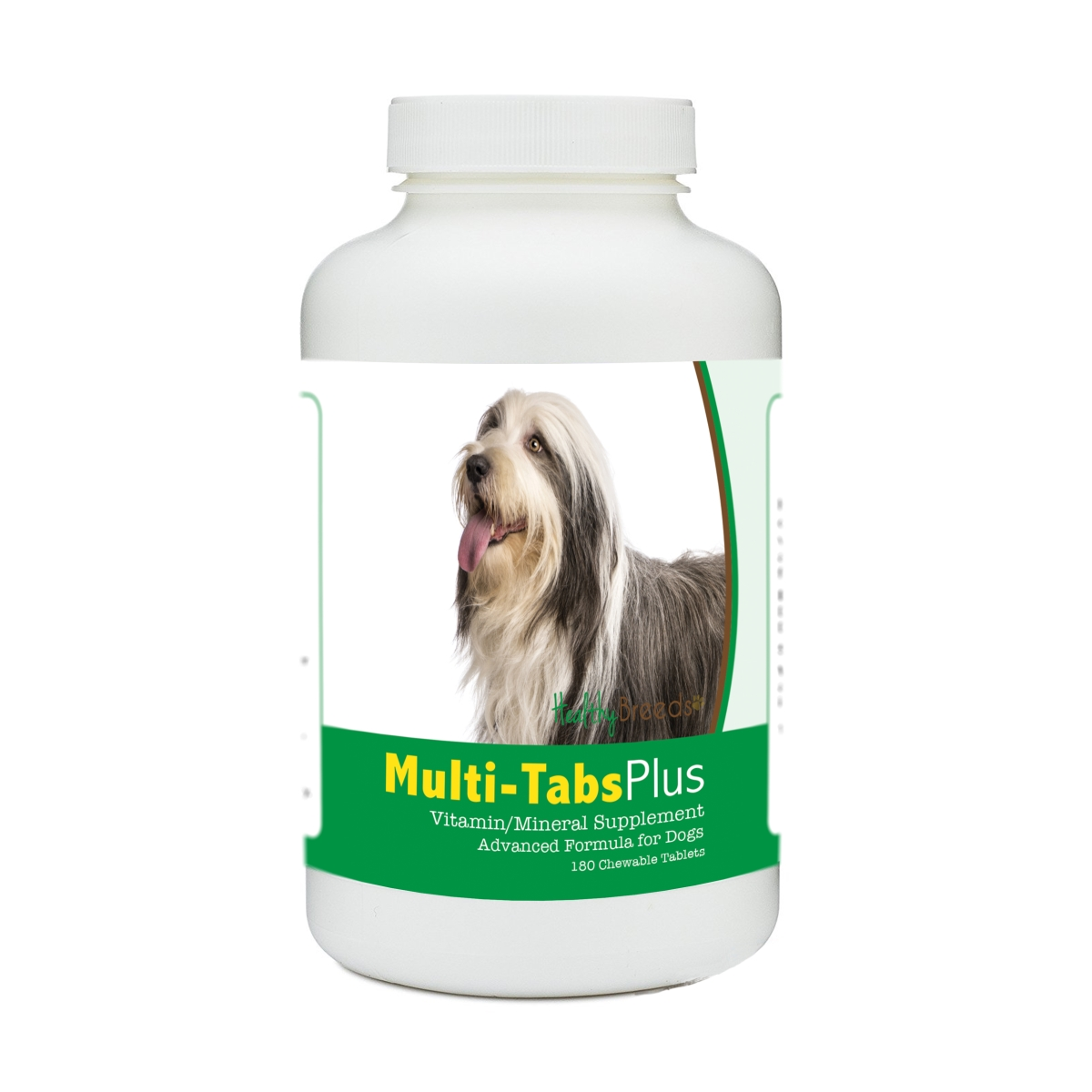 Healthy Breeds 840235179269 Bearded Collie Multi-Tabs Plus Chewable Tablets - 180 Count
