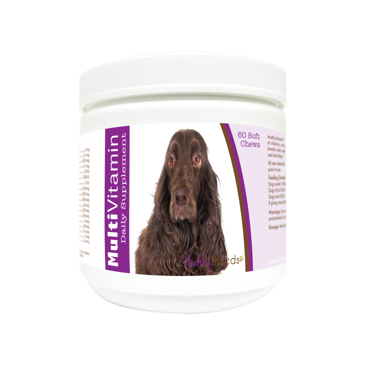 Healthy Breeds 840235179436 Field Spaniel Multi-Vitamin Soft Chews - 60 Count