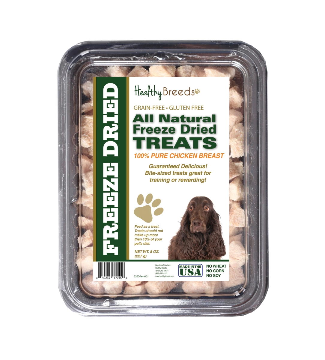 Healthy Breeds 840235179450 8 oz Field Spaniel All Natural Freeze Dried Treats Chicken Breast