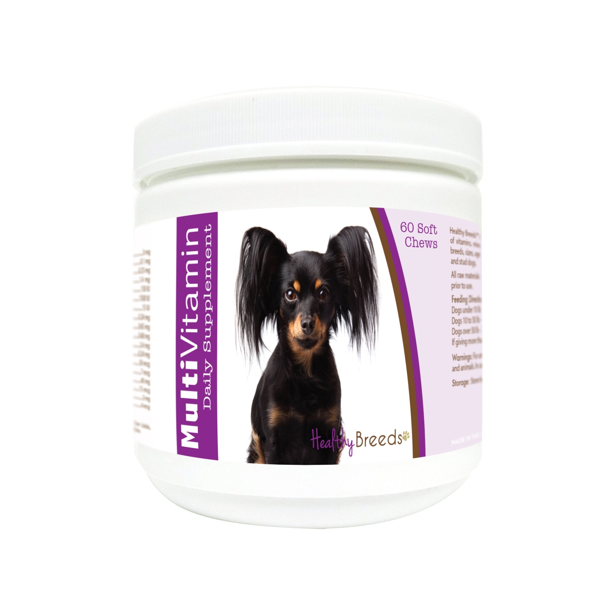 Healthy Breeds 840235179542 Russian Toy Terrier Multi-Vitamin Soft Chews - 60 Count